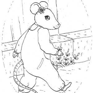 Victoria Mouse Colouring Sheet 1