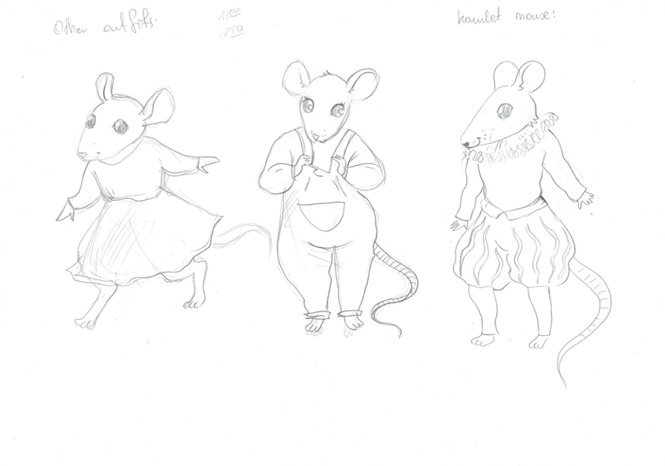 Victoria mouse character sketch