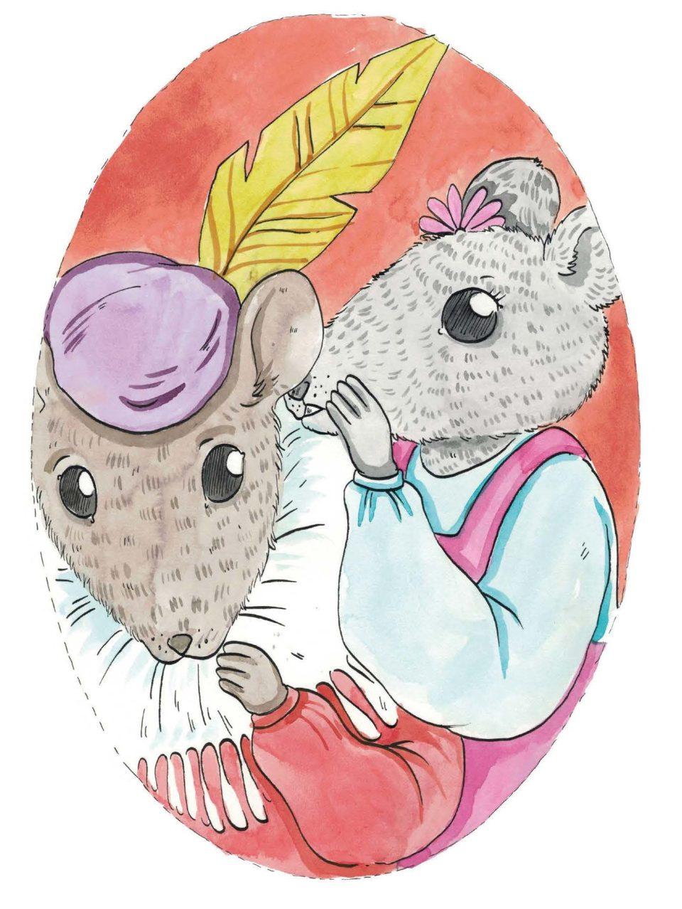 Two mice talking